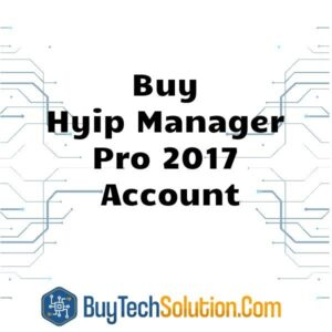 Buy Hyip Manager Pro 2017 Account